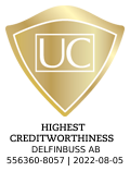 The seal is issued by UC AB. The image is linked to information about UC�s Credit Rating.