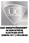 Kreditvärdighet - Sigillet är utfärdat av UC AB