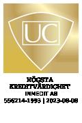 Sigill är utfärdat av UC AB