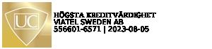 Viatel Sweden AB har högsta kreditvärdighet 2015 enligt UC GULD
