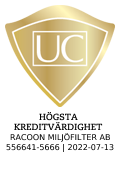 """""""Sigillet är utfärdat av UC AB. Klicka på bilden för information om UC:s Riskklasser."""""""