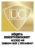 Högsta kreditvärdighet, Accigo AB, 556654-1602, 2017-08-20